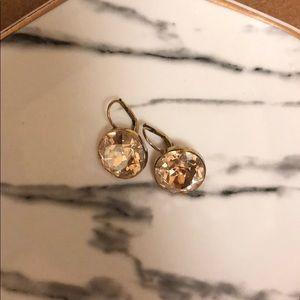 Gold swarovski Bella earrings